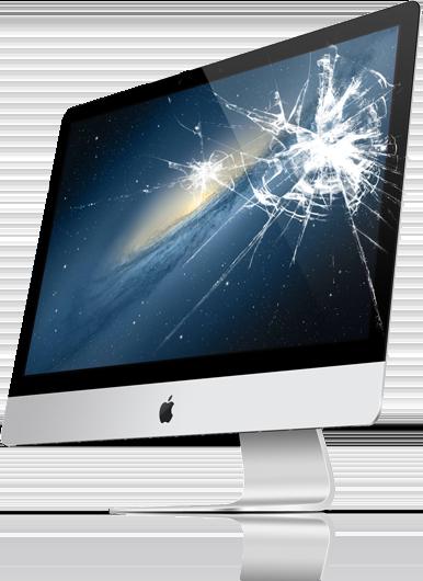 Cracked computer screen for repair