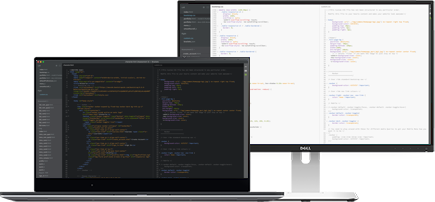 Code on screens - Gadget Doctor offers e-commerce and data services for websites, apps, software and IT consulting